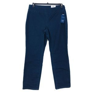 Charter Club jeans pull on slim leg waist smooth